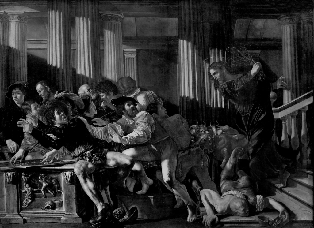 Francesco Boneri, called Cecco del Caravaggio – The Expulsion of the Traders from the Temple