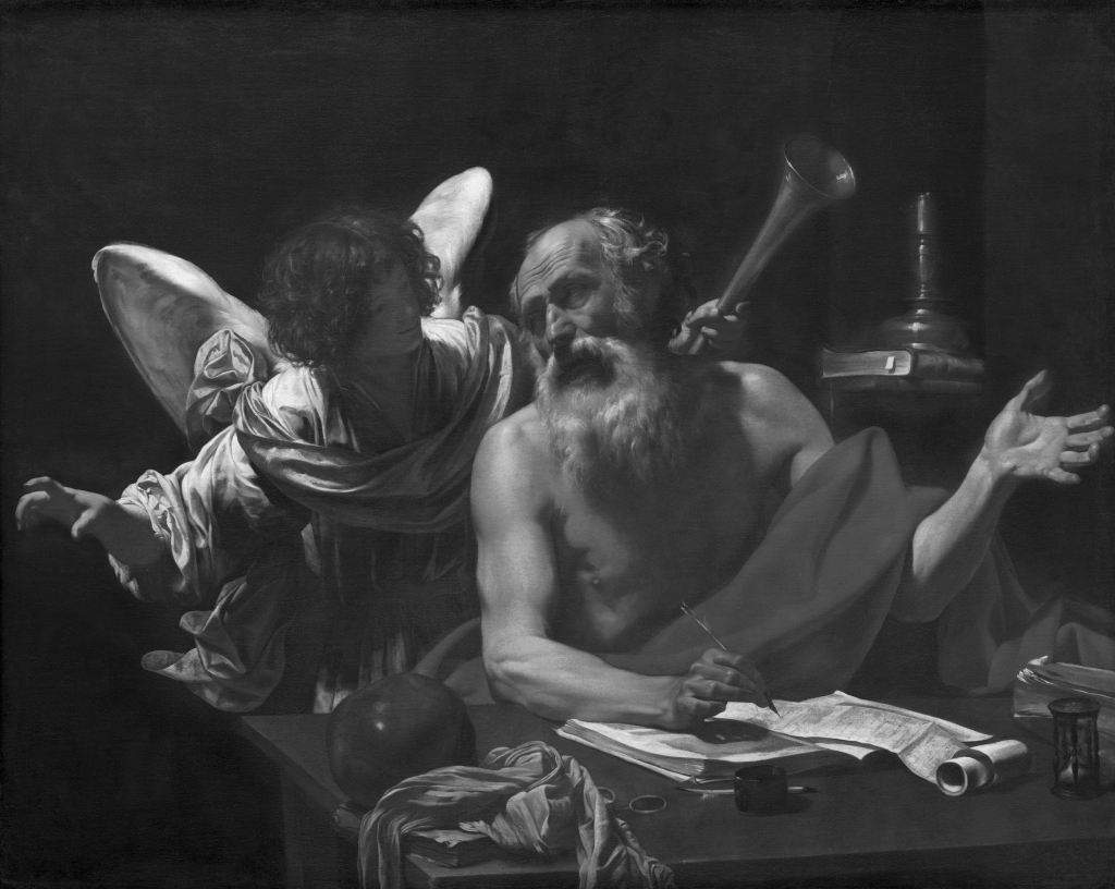 Simon Vouet – Saint Jerome and the Angel