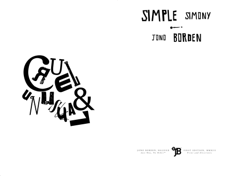 Jono Borden – Simple Simony